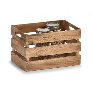 Aufbewahrungskoffer VINTAGE, Holz, 31x21x19 cm, ZELLER