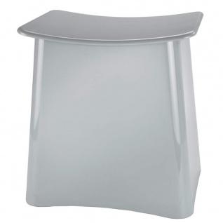 Wäschebehälter PLUS mit Sitz, 2in1, Hocker und Wäschekorb, grau, WENKO - WENKO