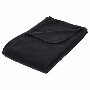 Fleecedecke schwarz 125 x 150 cm