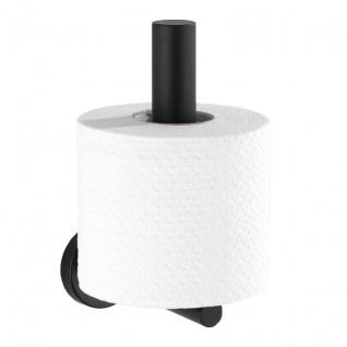 Toilettenpapierhalter MEZZANO, schwarz, WENKO