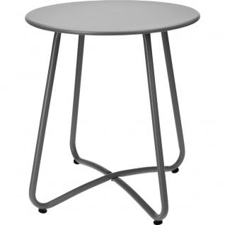 Gartentisch aus Metall in grüner Farbe, solide Gartenmöbel oder praktischer Balkontisch