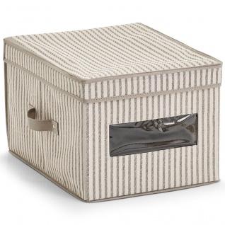 Textil Vorratsbehälter Faltbox mit Deckel und Fenster - 25 x 30 x 40 cm - ZELLER