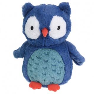 Kuscheltier für Kinder Eule, 22 cm, dunkelblau