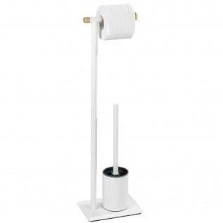 WENKO Ständer für Toilettenpapier und Toilettenbürste, MACAO - 2 in 1