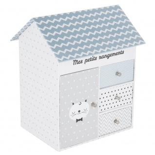 Box für kleine Gegenstände, 3 Schubladen, HAUS + Lagerung mit Tür