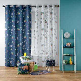 Ösenvorhang Marley, 140 x 260 cm, Polyester, Bedruckt, Blau - Douceur d'intérieur - Vorschau 2