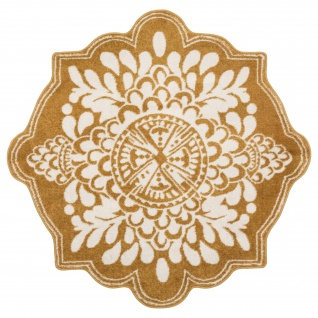 Teppich für Wohnzimmer FOLK, Ø 120 cm, Folk-Muster