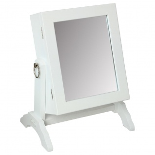 Standspiegel, klein, Organizer auf Schmuck, Spiegel, Höhe: 28 cm