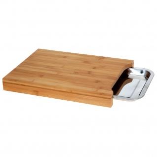 Bambusschneidebrett mit ausziehbarem Tablett