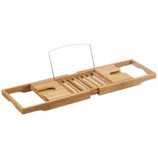 Badewannenablage mit Buchstütze, 100% Bambus, ZELLER - Vorschau 1