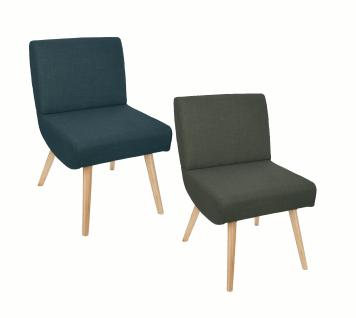 Ako Stuhl mit grüner Polsterung, gepolsterter Rückenlehne und Sitz, eleganter und bequemer Sessel.