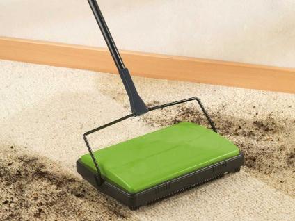 Teppichkehrer Kehrmaschine Teppich Teppichroller 2 Kehrbürsten - Vorschau 5