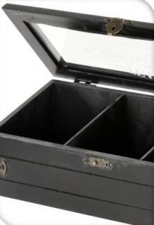 Teebox mit Aufschrift SWEET HOME, Holz, 24 x 9 x 9 cm - Vorschau 5