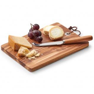Käse- und Servierbrett, Holz Küchenzubehör - 24, 5 x 17 cm, ZELLER