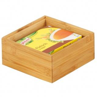 ZELLER Ordnungsbox, Bamboo 15 x 15 x 7 cm