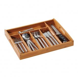 Besteckbehälter Bambus Organizer für Schublade KESPER