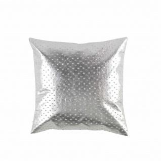 Kissen, Abnehmbarer Bezug, Kompresse, 40 x 40 cm, Polyurethan, mit Sterlings-Seil, silberfarben - Douceur d'intérieur