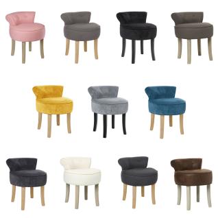 3-in-1 Stuhl, praktischer und bequemer FIRMIN Hocker mit blauer Polsterung, Sessel, Hocker mit Rückenlehne