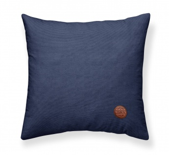 Deko-Kissen ESCALE, Baumwolle, 40 x 40 cm, dunkelblau