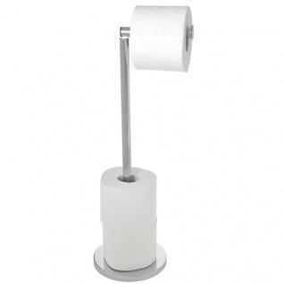 WENKO, Stand Toilettenpapierhalter 2 in 1 , Stahl
