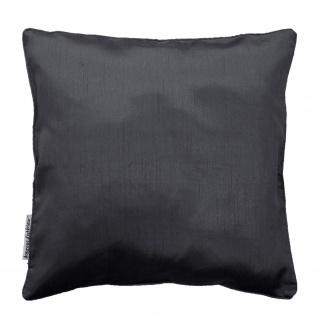 Shantung Shana Kissenbezug, inkl. Kissen, Polyester, 40 x 40 cm, einfarbig, Polyester, dunkelviolett - Douceur d'intérieur