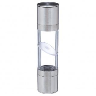 Transparente Pfeffermühle, Salz, mechanisch, 5 x 22 cm