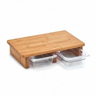 Zeller Schneidebrett Küchenbrett mit Behältern - Vorschau 3