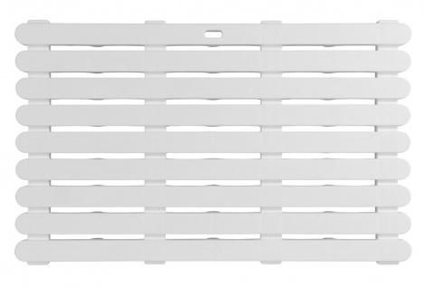 Anti-Rutsch Badteppich Rechteckig Badteppich Duschwanne 50 x 80 cm weiß WENKO