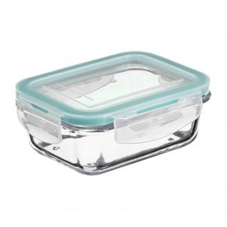 Lebensmittelbehälter, Lunchbox, Glasbehälter mit Deckel, Fassungsvermögen 0, 8 l