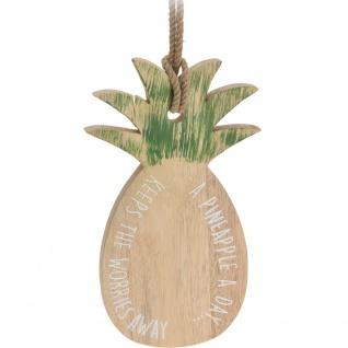 Ananas Schneidbrett aus Gummibaum PINEAPPLE