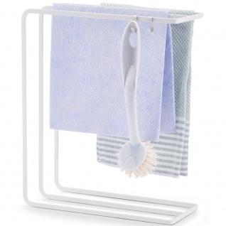 Küchenregal für Tuch und Küchenzubehör, Schwammtrockner und Küchenreinigungswerkzeuge.