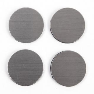 Notizmagnete, Edelstahl, 4 Stück, Kreismuster, ZELLER - Atmosphera