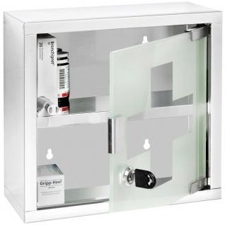 Zweistöckiges Erste-Hilfe-Set mit Schlüsseln, zum Aufhängen, 25 x 12 x 25 cm, WENKO