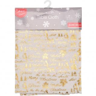 Weihnachtstischdecke Sterne gold 140 x 180 cm - Home Styling Collection