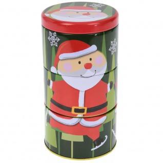 Dekorative Metallkästen, Motiv Weihnachten Schneemann, 3 Ebenen - Home Styling Collection