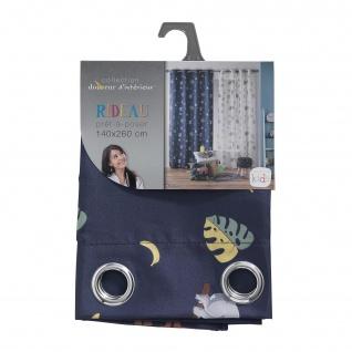 Ösenvorhang Marley, 140 x 260 cm, Polyester, Bedruckt, Blau - Douceur d'intérieur - Vorschau 4