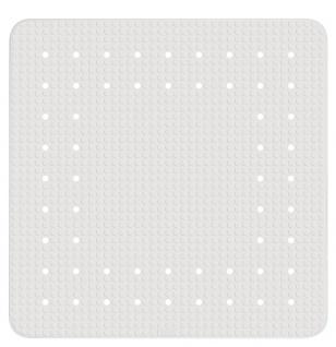 Gummimatte für Duschwanne oder Badewanne, quadratischer Anti-Rutsch-Einsatz - 54 x 54 cm, WENKO