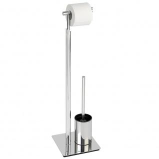 Toilettenpapierhalter und WC-Bürstenhalter LISBOA - 2 in 1, WENKO
