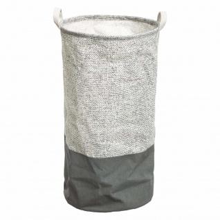 Waschkorb, rund, Baumwolle mit Griffen, Ø 33 cm