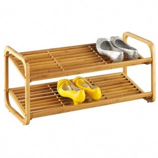 ZELLER Schuhbank, Schuhregal, 2 Fächer, Bamboo