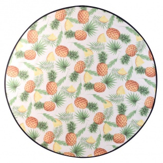 Strandtuch, Ø 138 cm, Ananas-Muster - ProGarden