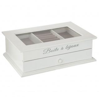 Schmuckkästchen, Weiß, mit 1 Schublade