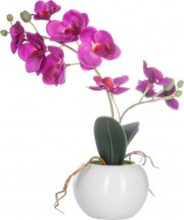 Künstliche Orchidee rosa im Topf, 25 cm - Atmosphera