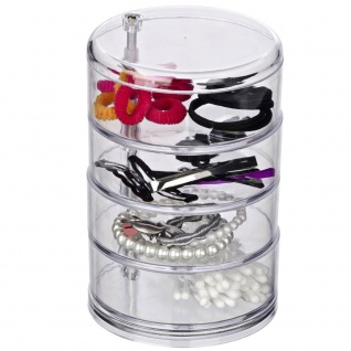 Kosmetik-Box Kosmetik Organizer Mit 4 Kammern Aufbewahrung Schmuckbox