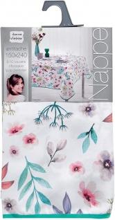 Tischdecke, rechteckig, FRESHY WHITE, 150 x 240 cm, weiß, Blumen-Motiv - Vorschau 2