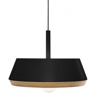 Hängeleuchte Floyd aus Holz und Metall, Durchmesser 40 cm - Atmosphera