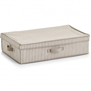 Textil Aufbewahrungsbox, Faltbehälter mit Deckel - 61, 5 x 38 x 16, 5 cm, ZELLER