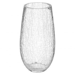 Vase, gewölbtes Glas, Höhe 27 cm - Atmosphera