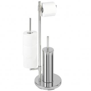 Toilettenpapierhalter und WC-Bürstenhalter UNIVERSALO NEO - 3 in 1, WENKO