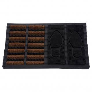 Fußmatte aus Gummi, Schuhabtreter, 60 x 40 cm - Storagesolutions